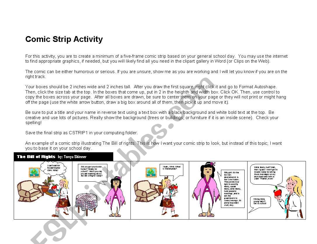 Comic Strip Activity
