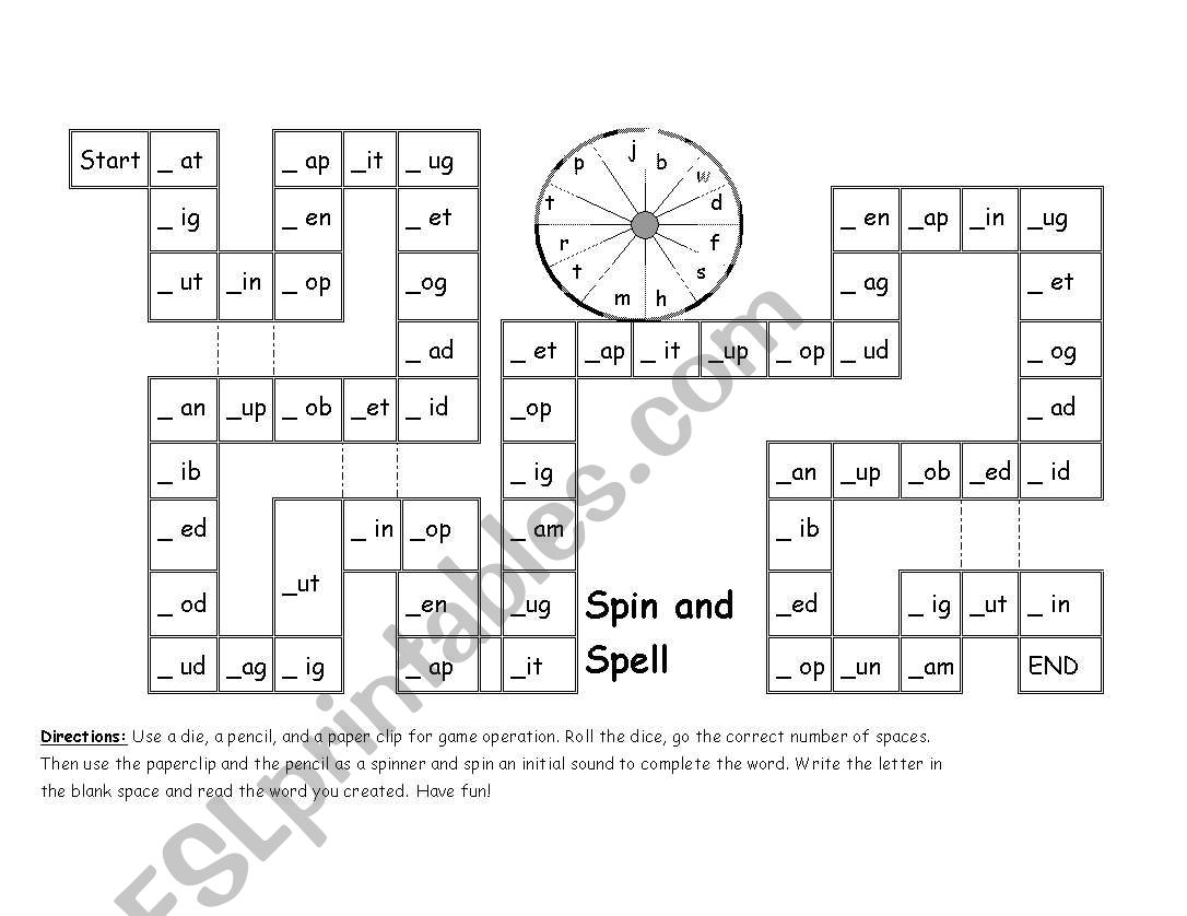 Phonics Spin Amp Spell Game