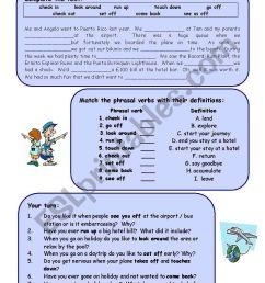 Travel phrasal verbs - ESL worksheet by Arianey [ 1169 x 821 Pixel ]