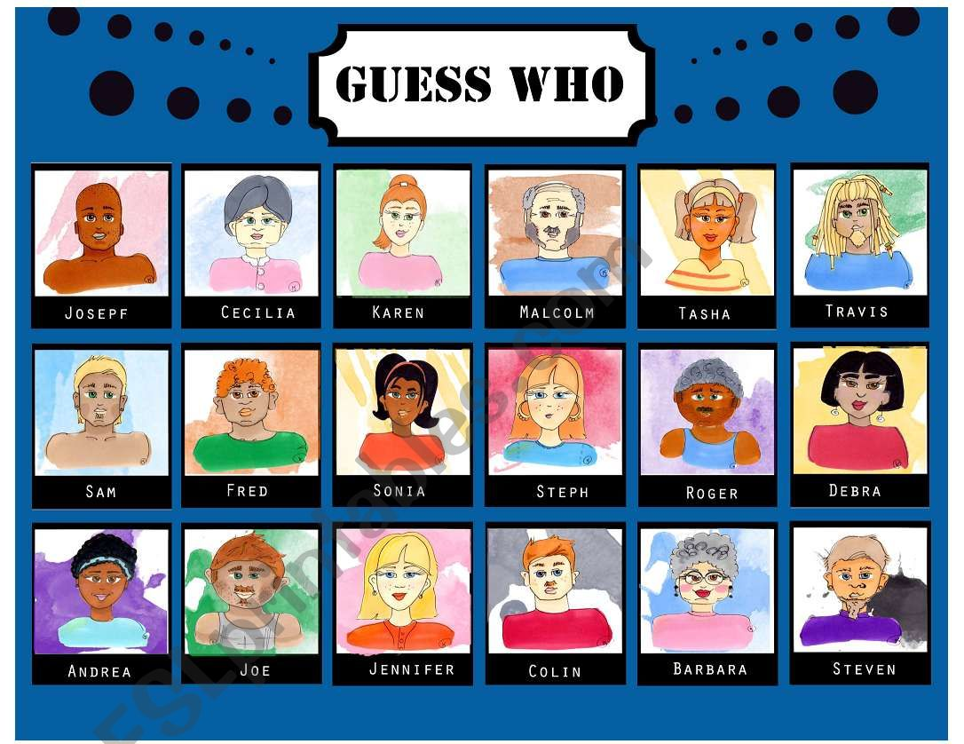 Guess Who 18 Faces