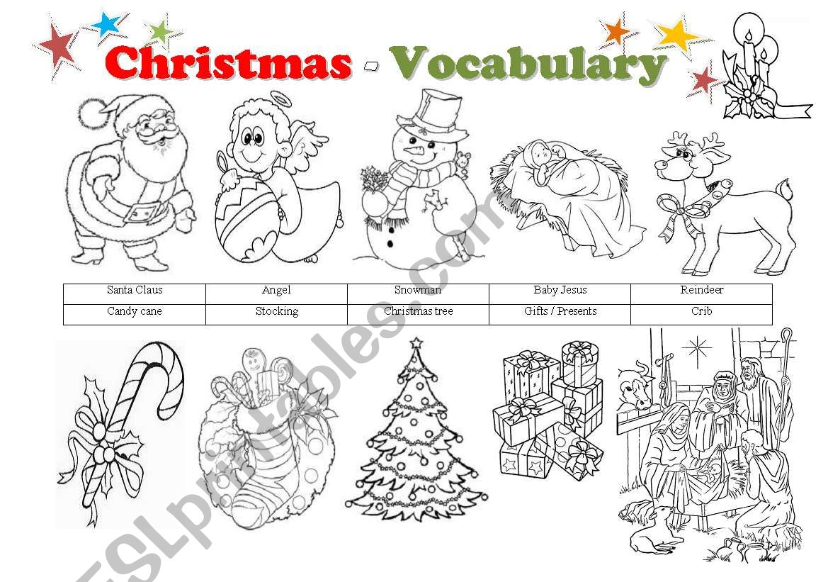 Christmas Vocabulary