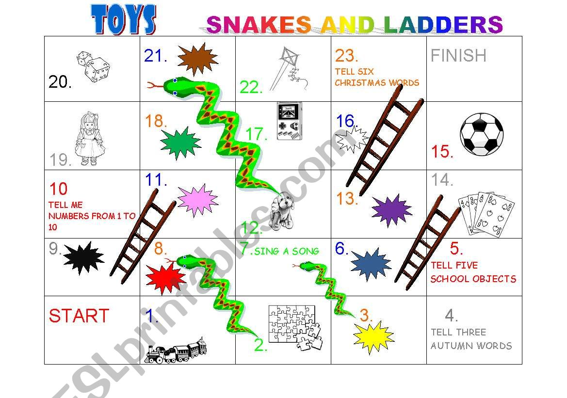Snakes And Ladders Toys And Colours