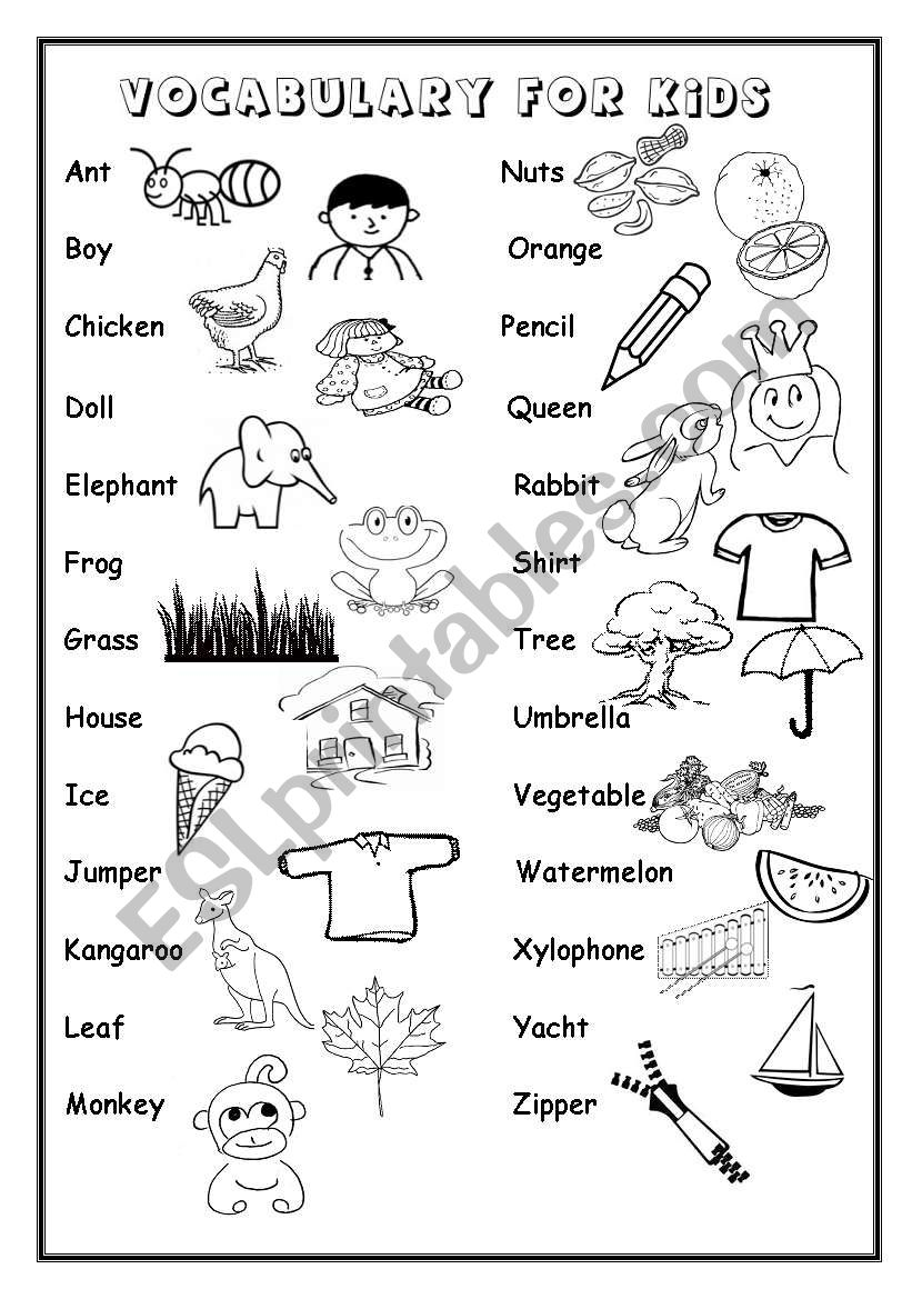 English worksheets: ALPHABET vocabulary
