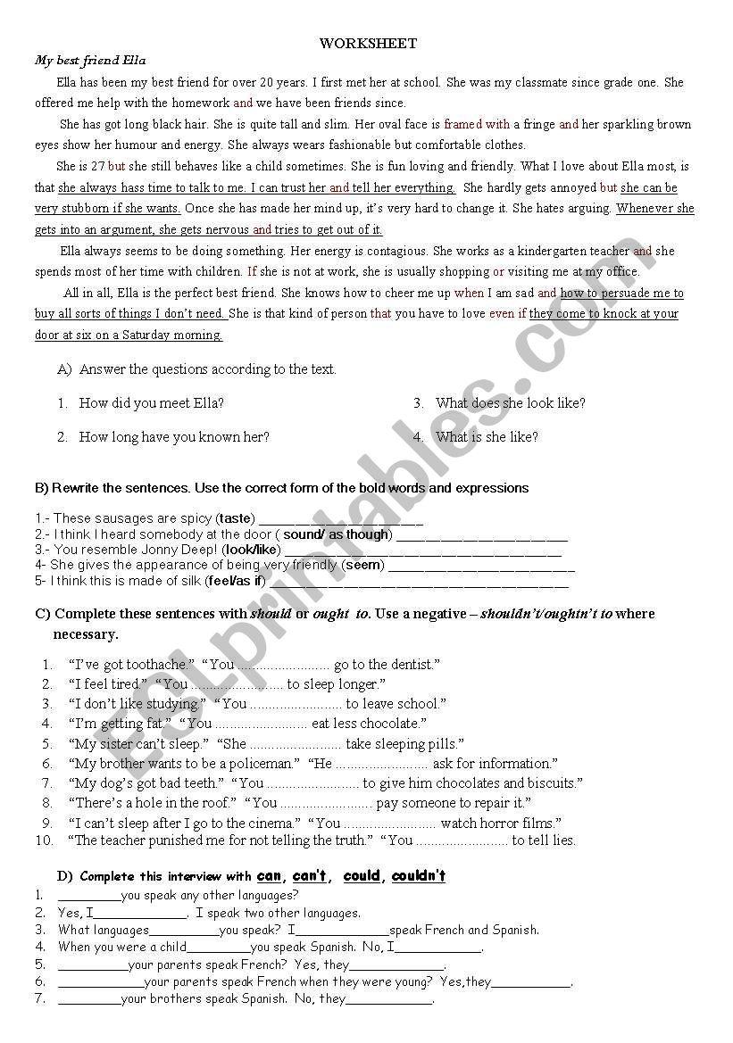 medium resolution of Worksheet for Anatolian High School Grade 11 Students - ESL worksheet by  hakani60