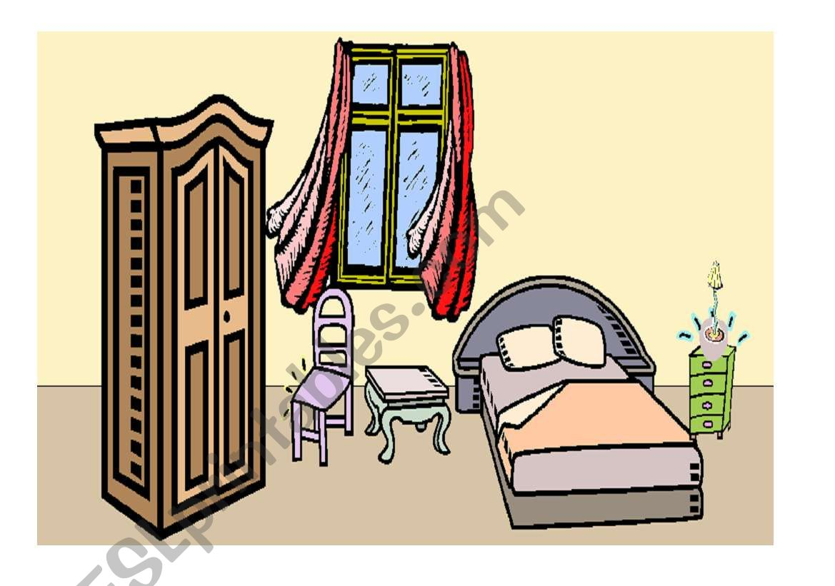 Game With Prepositions And Furniture