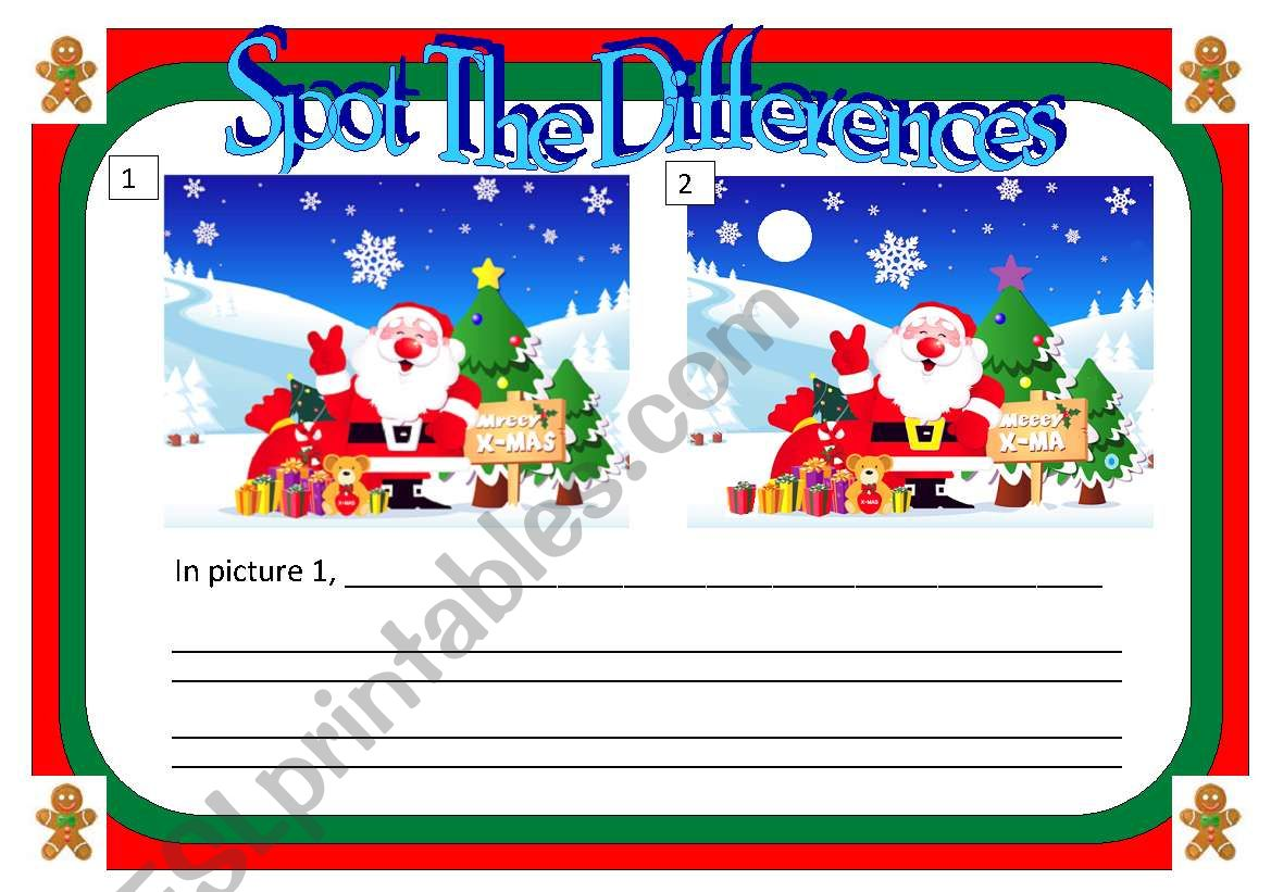 Spot The Differences Santa Claus