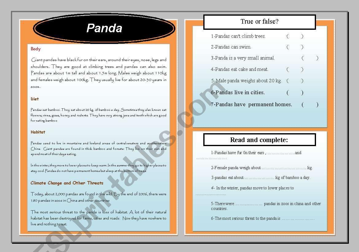 Endangered Species Panda
