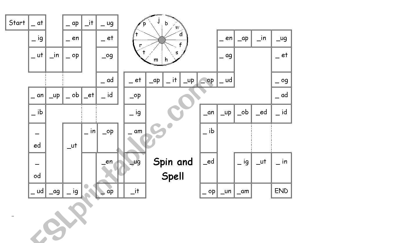 English Worksheets Phonics Board Game Long Vowel Sound
