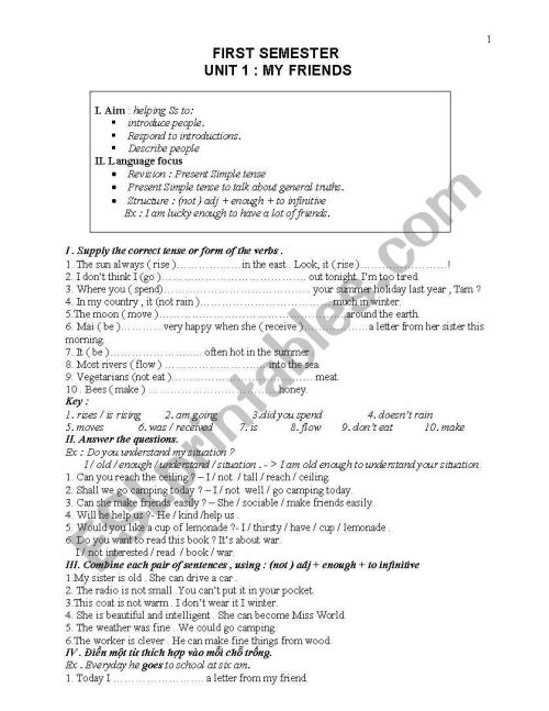 small resolution of English for grade 8 - ESL worksheet by hoarafh