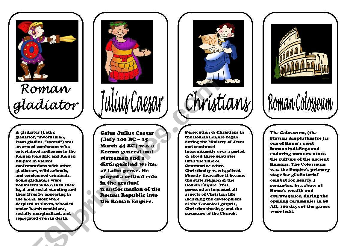 Ancient Rome Speaking Cards 3 3 January