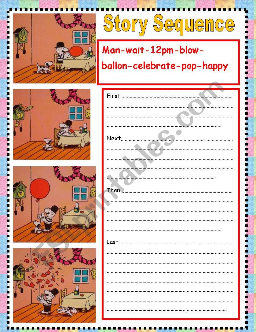 hight resolution of story sequence - ESL worksheet by nora85