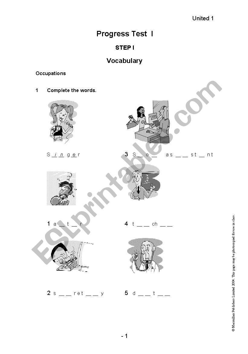 English worksheets: Level Test