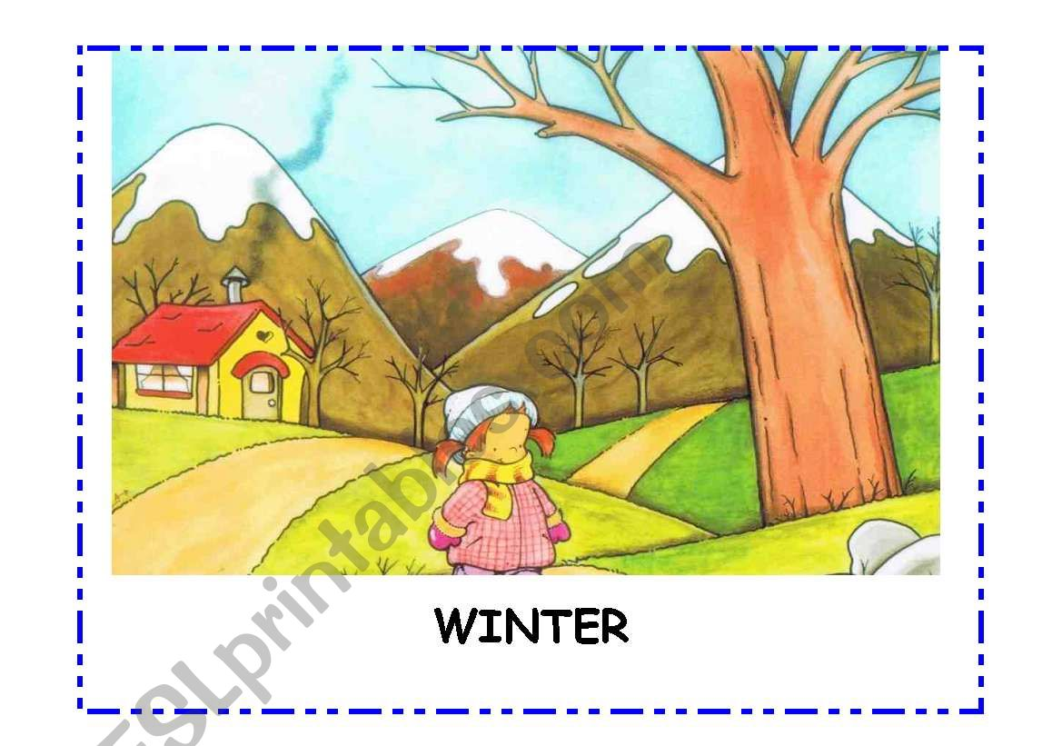 4 Seasons Flashcards Spring Summer Autumn Winter
