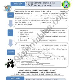 Global Warming - ESL worksheet by capelini [ 1169 x 821 Pixel ]