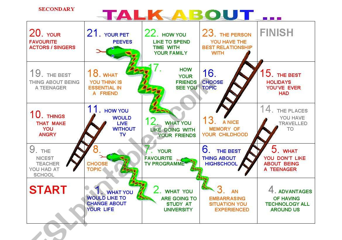 Snakes And Ladders No 4 Teens And Young Adults
