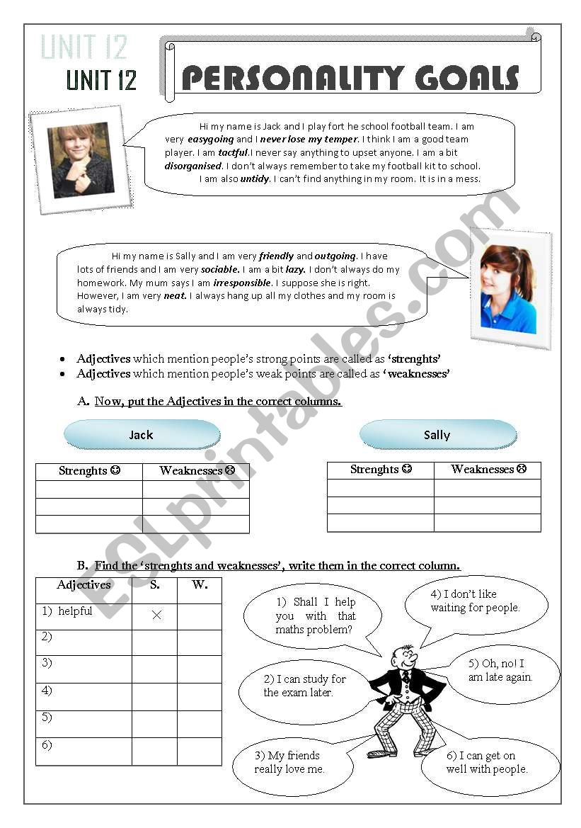 hight resolution of adjectives- suffixes- prefixes - ESL worksheet by snowflake20