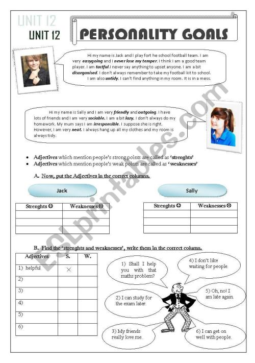 small resolution of adjectives- suffixes- prefixes - ESL worksheet by snowflake20