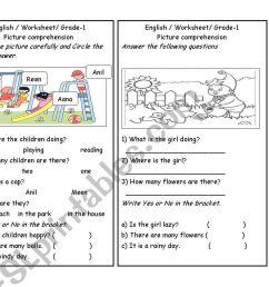 Picture comprehension part 3 - ESL worksheet by zuhu [ 838 x 1086 Pixel ]