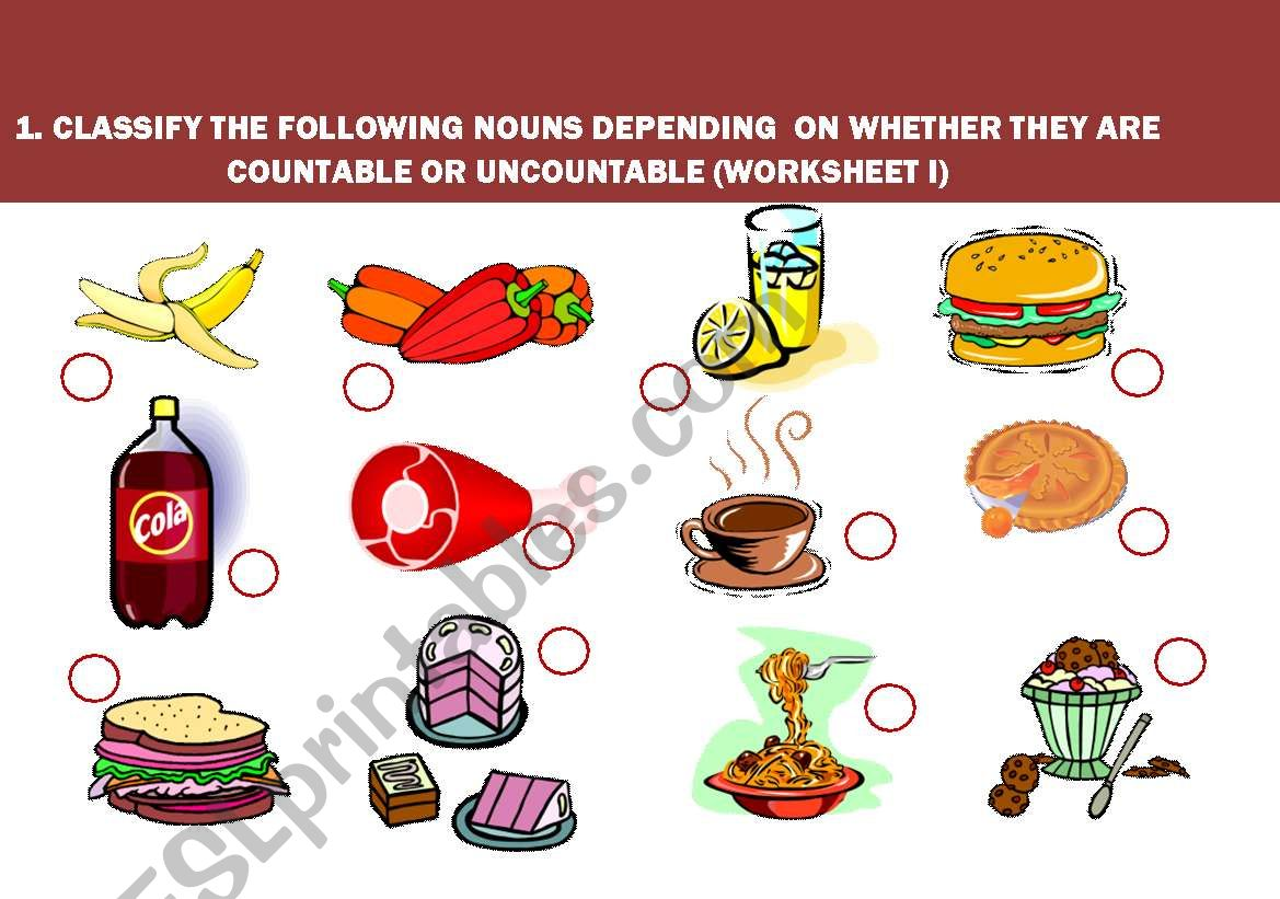 Uncountable And Countable Nouns Food