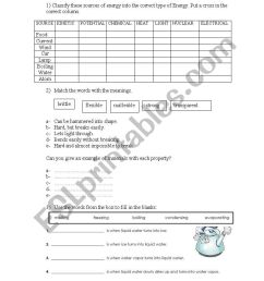 English worksheets: Science Grade 4 - Properties of materials [ 1169 x 821 Pixel ]