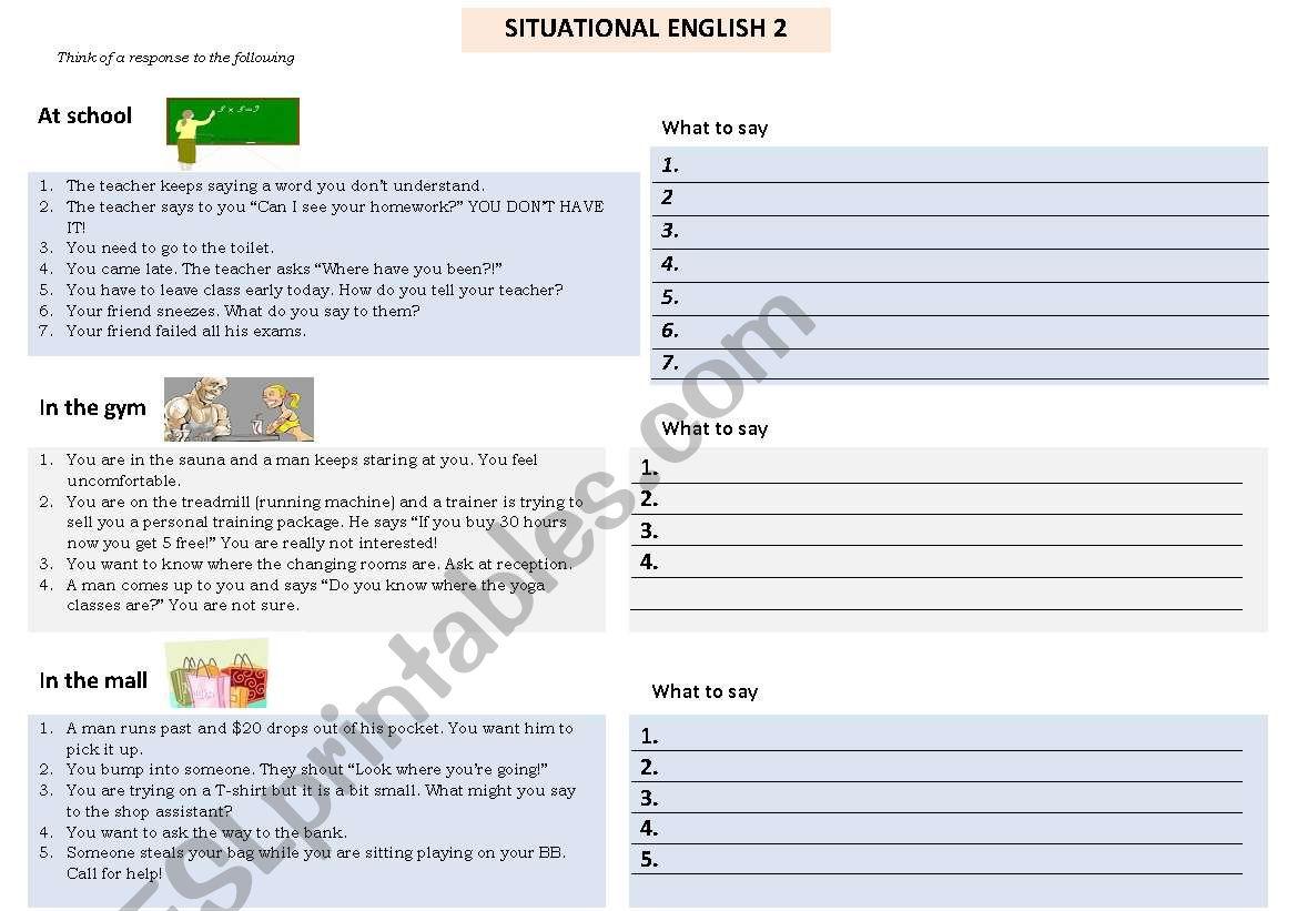 Situational English Part 2