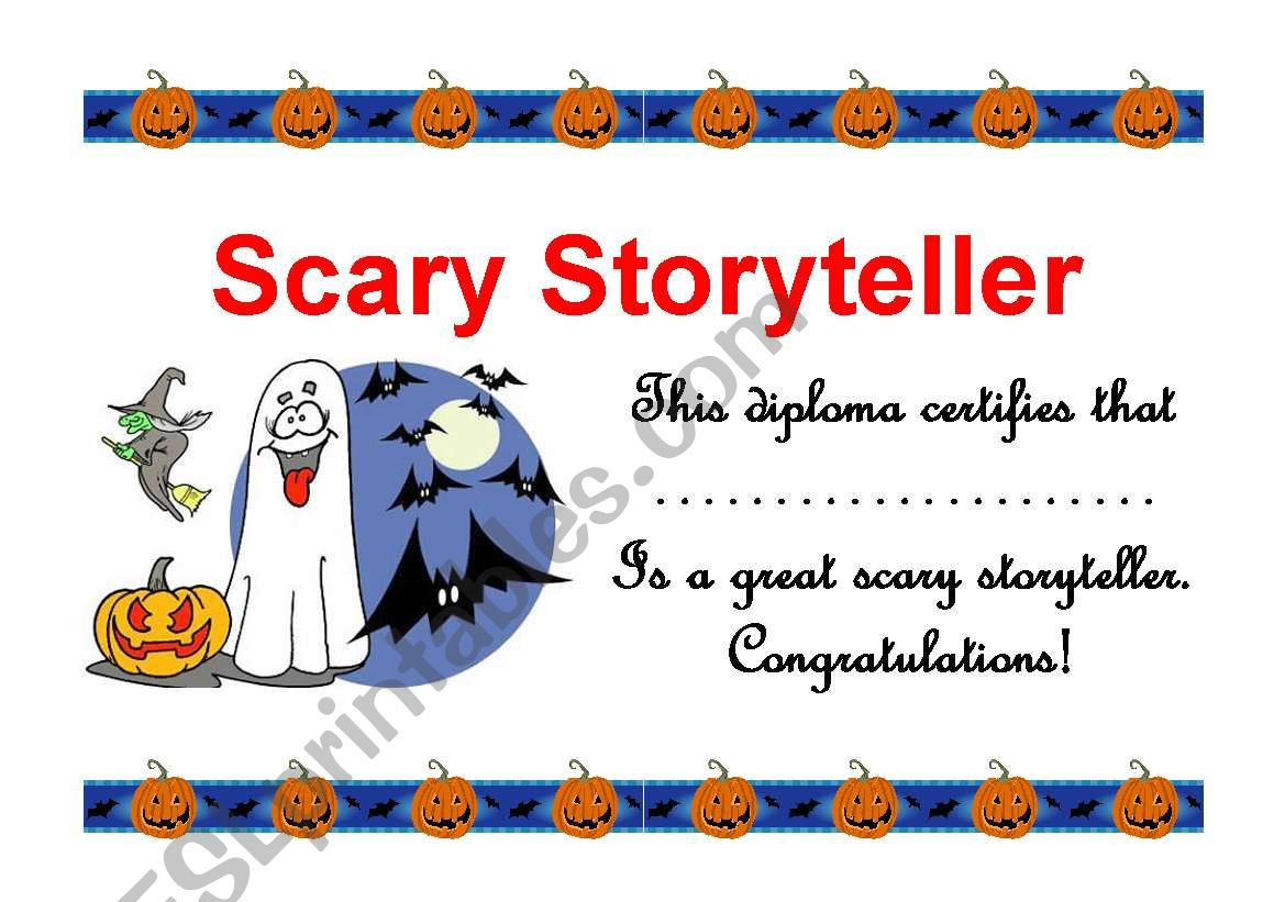 Halloween Diplom