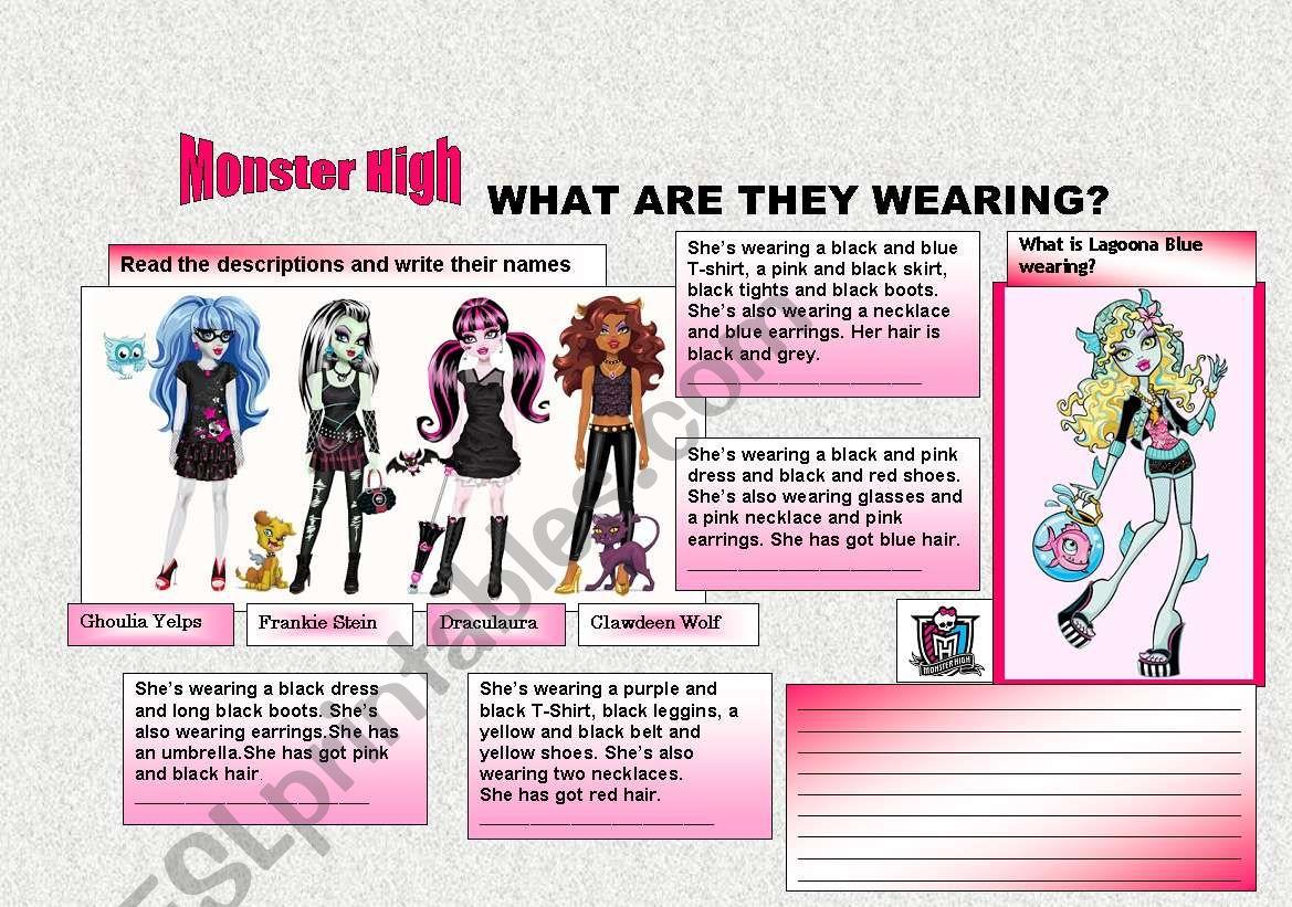 Clothes Description Monster High