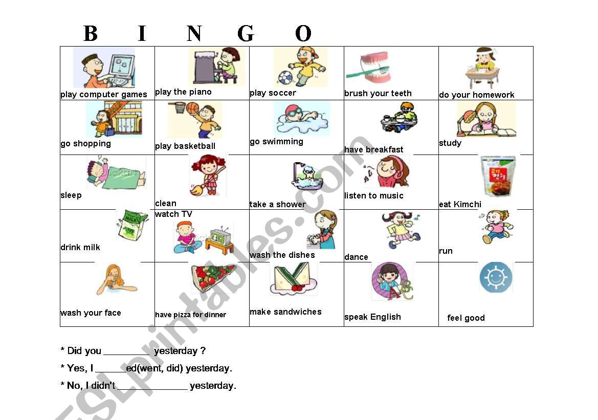 Daily Routines Bingo Cards