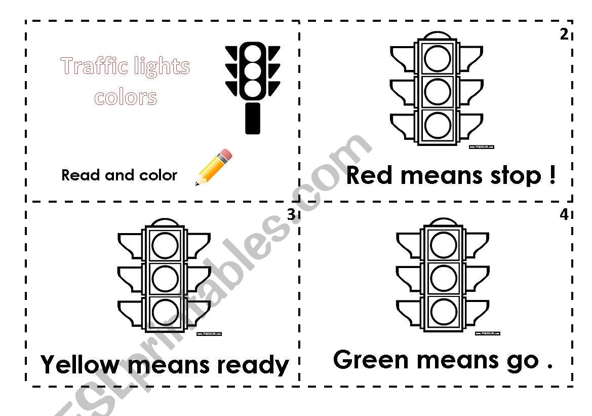 Traffic Lights Read And Color