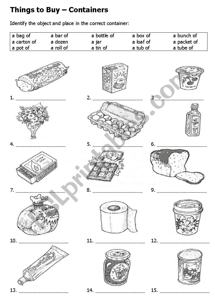 What is the container for these items? Make a shopping