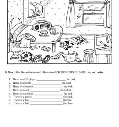 Prepositions Worksheets For Preschoolers   Printable Worksheets and  Activities for Teachers [ 2338 x 1653 Pixel ]