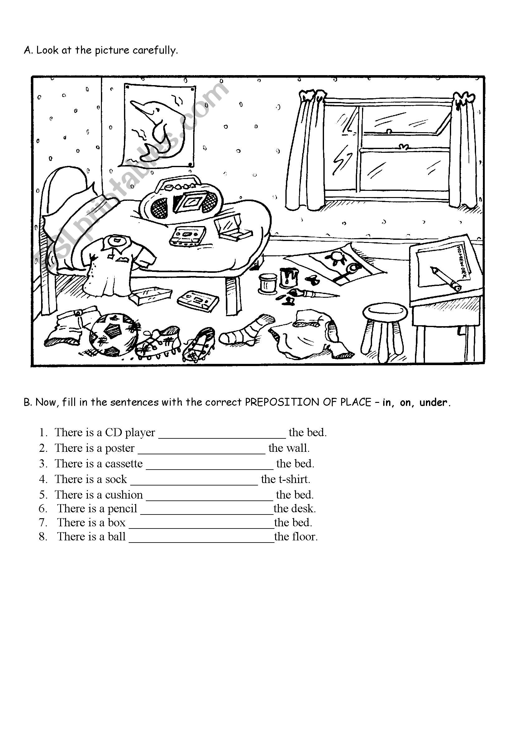 hight resolution of Prepositions Worksheets For Preschoolers   Printable Worksheets and  Activities for Teachers