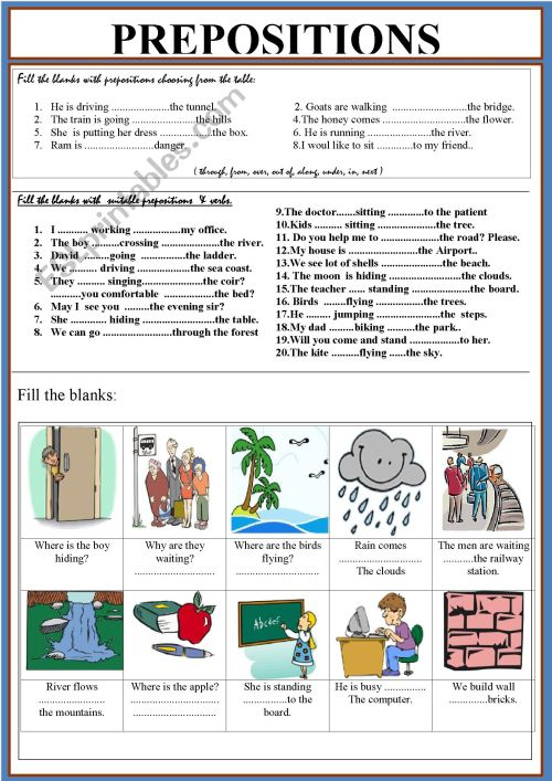 small resolution of Prepositions Worksheets Pdf   Printable Worksheets and Activities for  Teachers