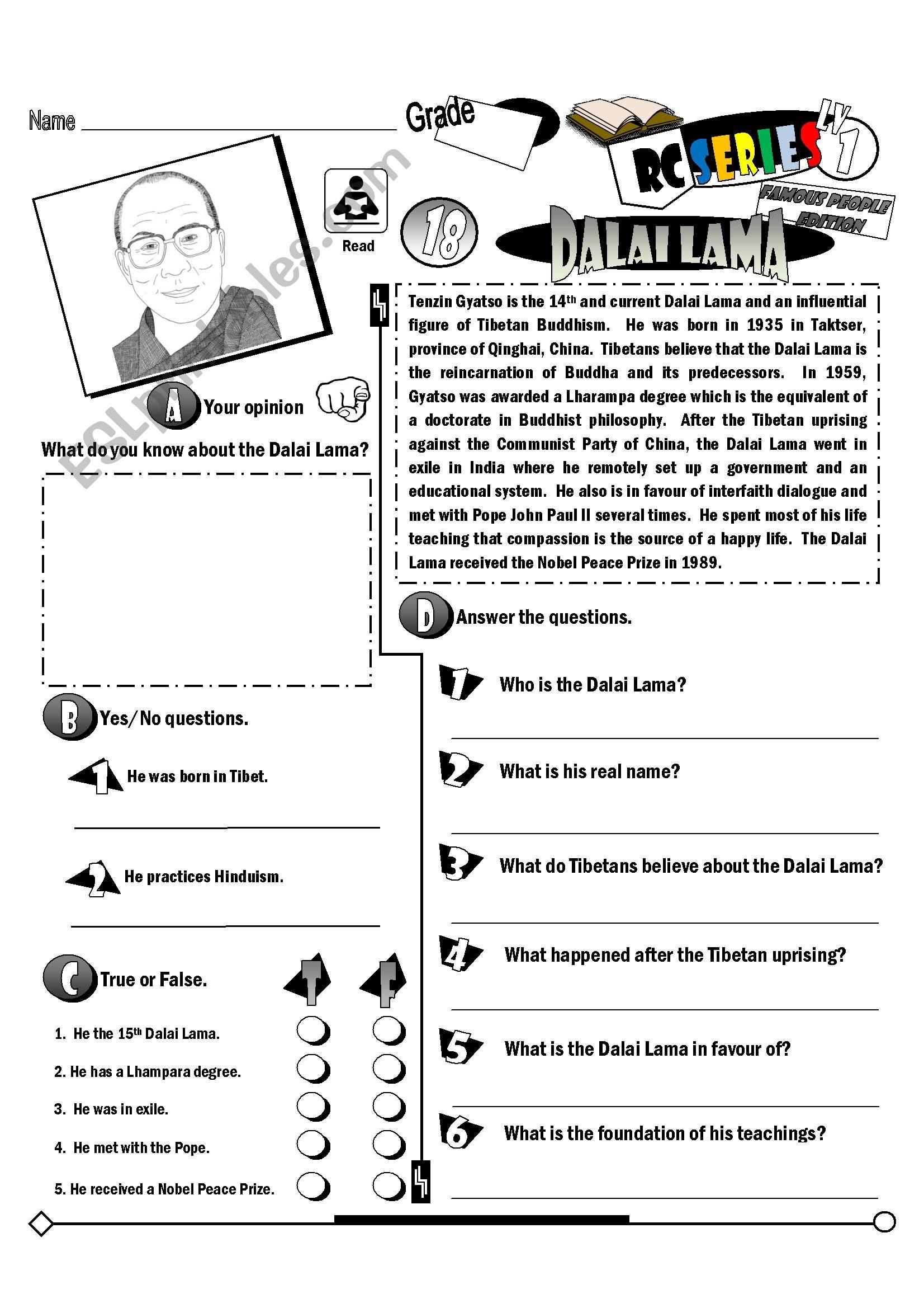Rc Series Famous People Edition 18 Dalai Lama Fully