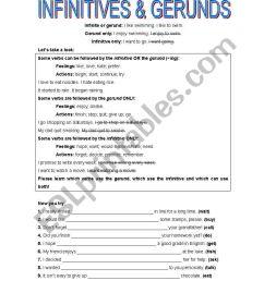 infinitive \u0026gerunds - ESL worksheet by lank [ 1169 x 821 Pixel ]