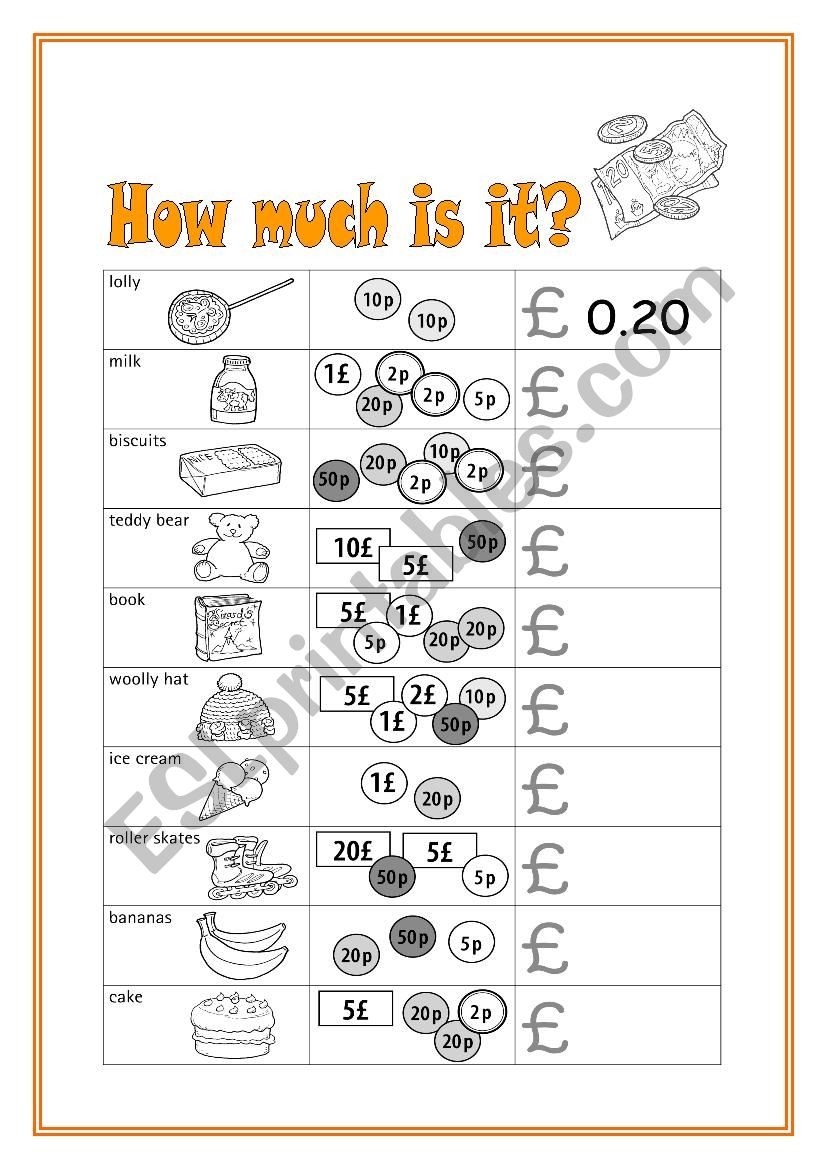 How much is it  ESL worksheet by Krmel
