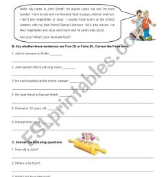 5th Grade Test about Food - ESL worksheet by AJFC [ 1169 x 826 Pixel ]