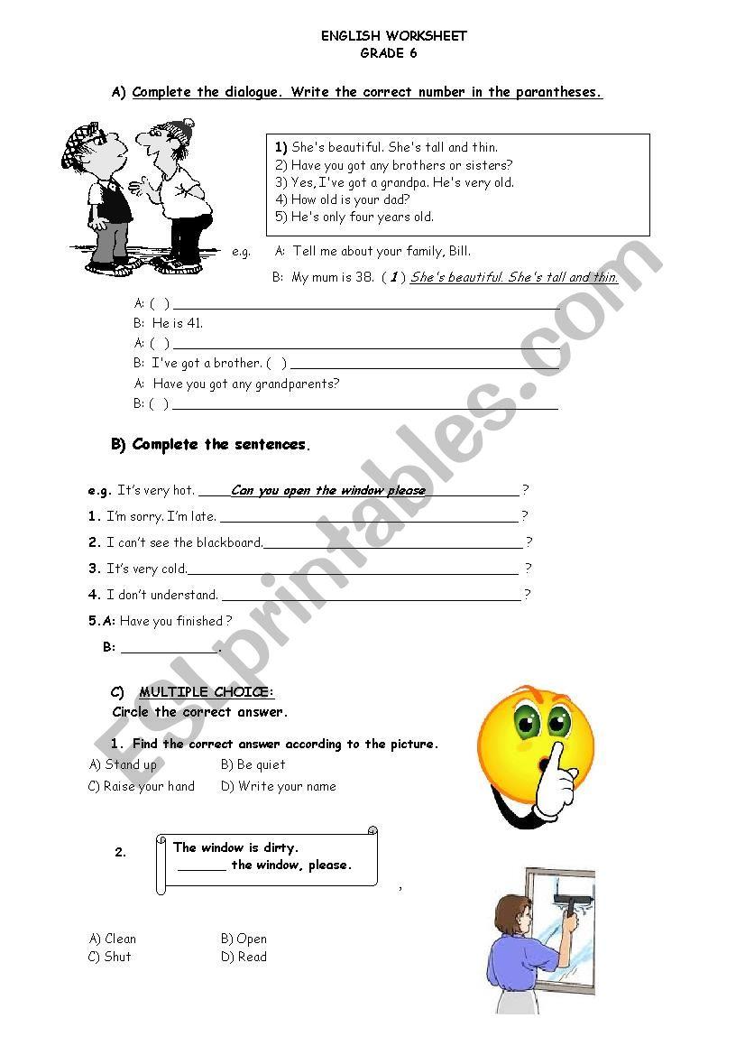 hight resolution of 6th Grade Useful Worksheet 2 - ESL worksheet by oznurkilic