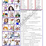 Adjectives In Colour And Greyscale With Key Esl Worksheet By David Lisgo