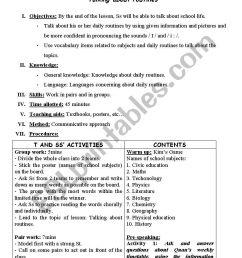 lesson plan grade 10 - unit 1: speaking - ESL worksheet by trangphan_7ht27 [ 1169 x 826 Pixel ]