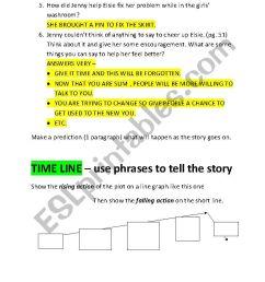Nothings Fair In Fifth Grade : Chapter Worksheet - ESL worksheet by kentrot [ 1169 x 826 Pixel ]