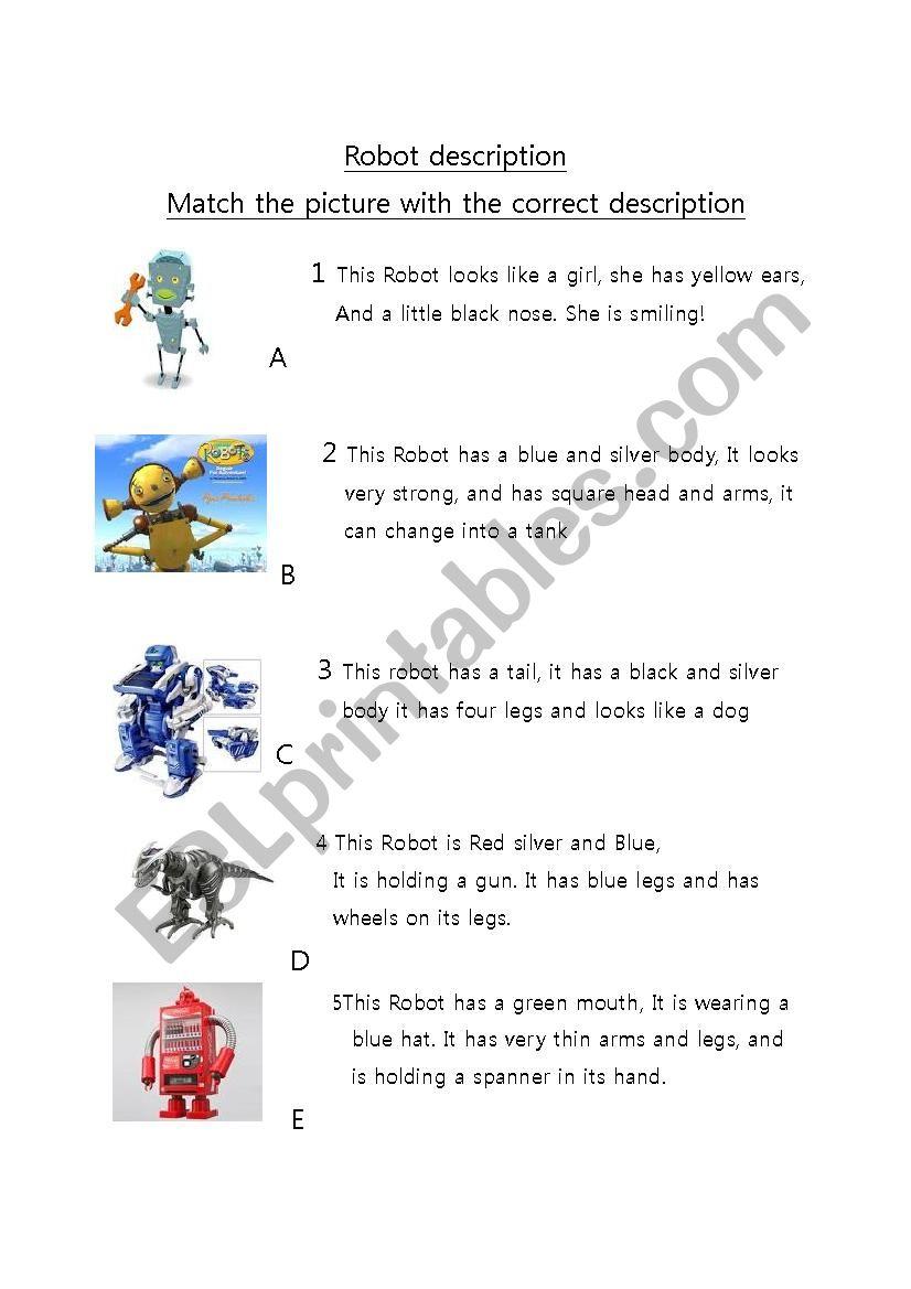 Robot Matching And Design