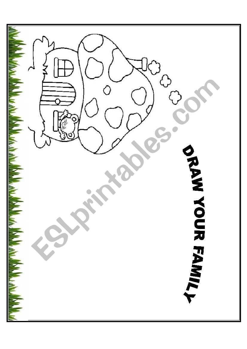 English worksheets: Draw your family worksheet