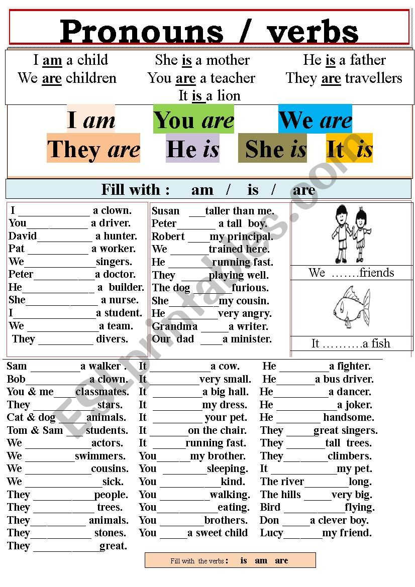 Pronouns And Verbs