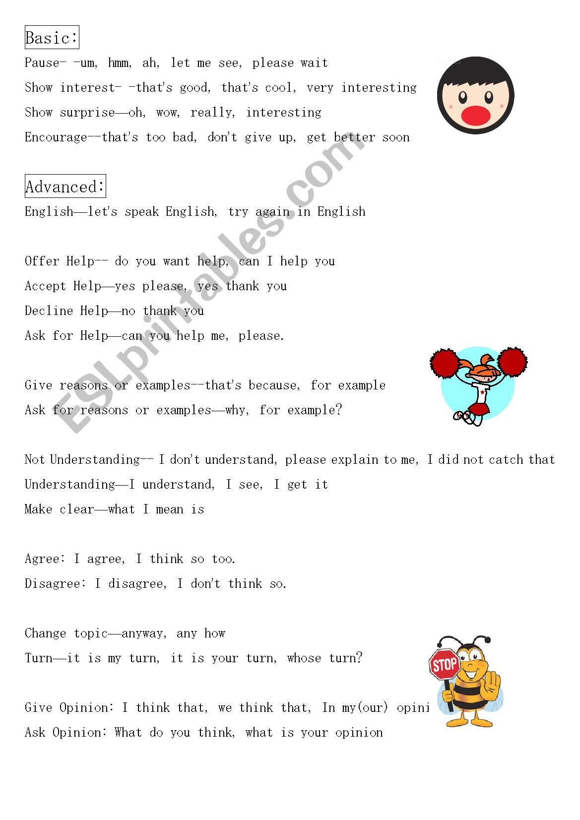 English Worksheets Discourse Markers