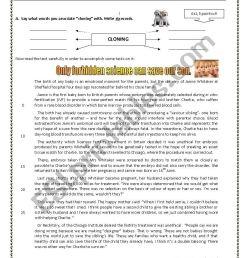 11th Grade Written Test - Genetic Manipulation - ESL worksheet by  cristinaevang [ 1169 x 826 Pixel ]