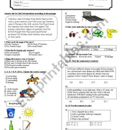 8th grade 2nd term 3rd exam - ESL worksheet by adrenalin83 [ 1169 x 826 Pixel ]
