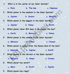 Solar System quiz - ESL worksheet by Tchen_anastassia [ 1169 x 826 Pixel ]
