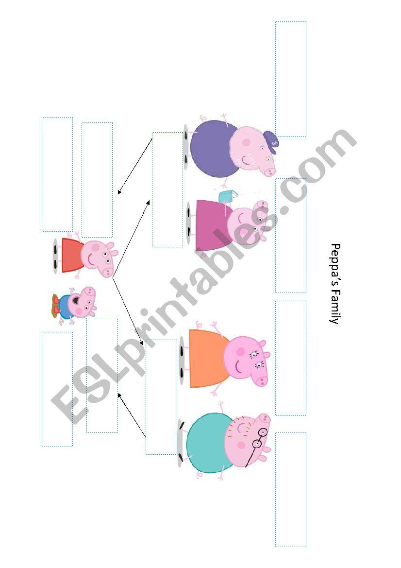 medium resolution of peppa pig s family worksheet