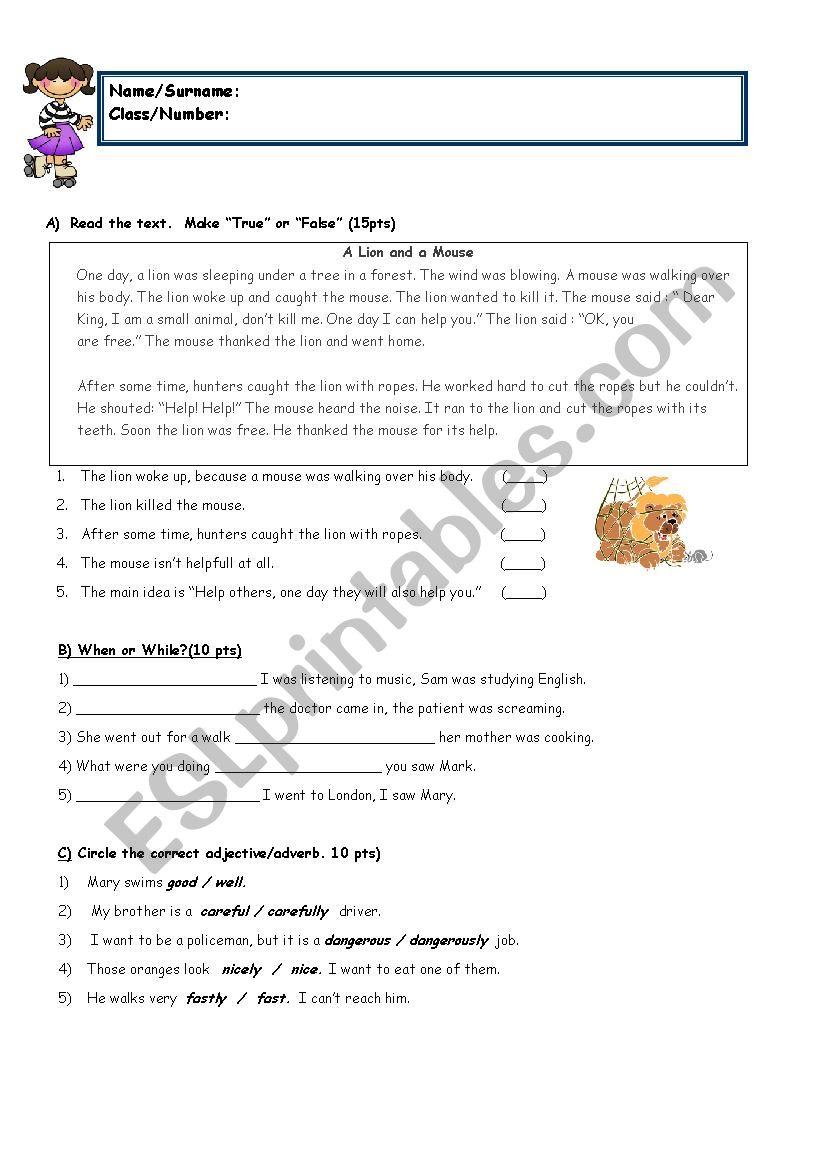 medium resolution of 8th grade with reading - ESL worksheet by sukrupasa